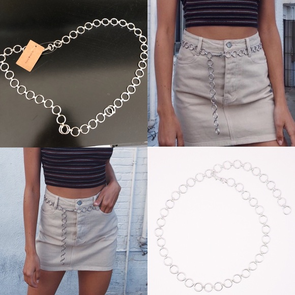 65abe61b89 Brandy Melville Silver Chain Belt